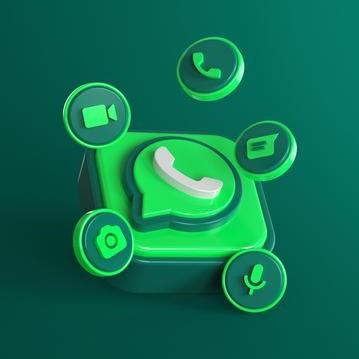 logotipo do whatsapp 3d com icones de bate papo 106244 1488
