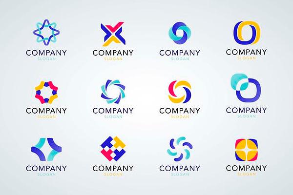 colecao colorida de logotipo da empresa 53876 100673